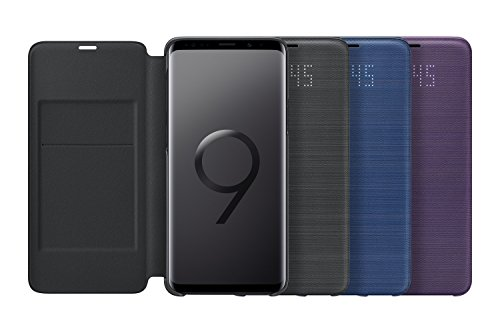 buy popular 4ac85 78160 Samsung Official Genuine LED View Cover Flip Case Galaxy S9+ / S9 Plus -  Black (EF-NG965PBEGWW)