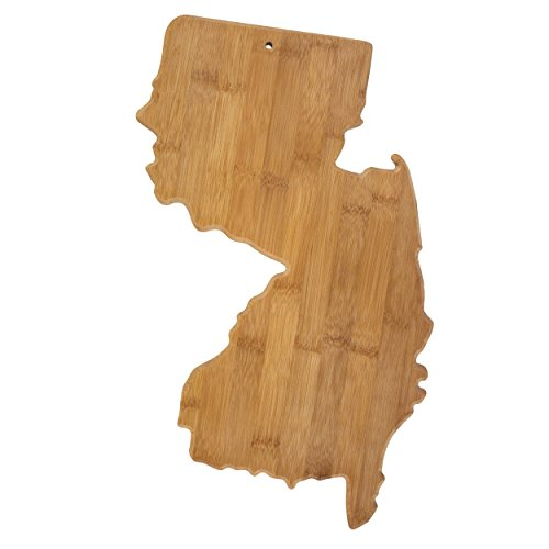 Totally Bamboo New Jersey State Shaped Bamboo Serving and Cutting Board
