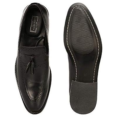 Liberty Men's Leather Handmade Tassel Loafer Slip On Dress Shoes | Loafers & Slip-Ons