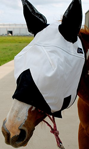Challenger Horsewear Equine Horse Fly Mask Summer Spring Airflow Mesh UV Mosquitoes 73201 ()