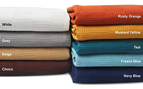 Queenzliving Cotton Throw Blankets  Breathable Thermal Cotto