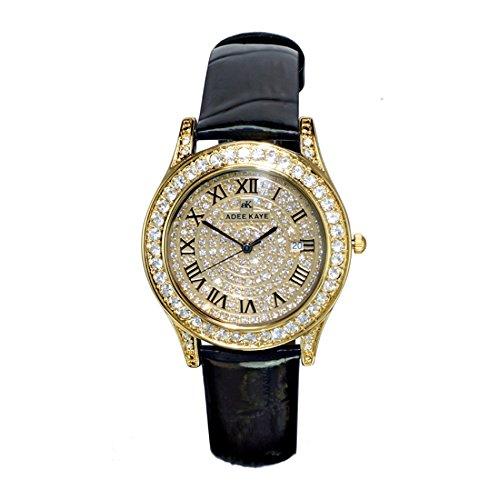 Adee Kaye Rhines Gold Crystal Pave Dial Ladies Watch AK9257-LG