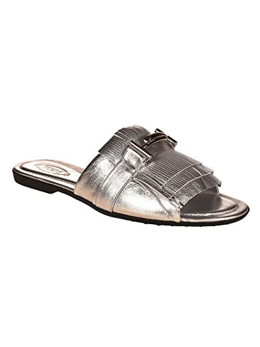 Sandals Leather XXW0OV0Y460NPPB200 Tod's Women's Silver wXqBxH4