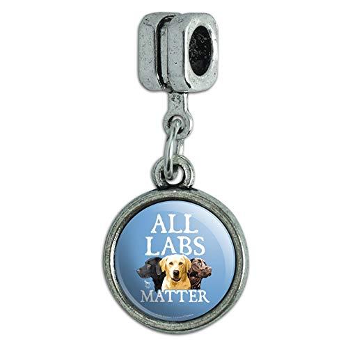 GRAPHICS & MORE All Labs Matter Labrador Dogs Italian European Style Bracelet Charm Bead