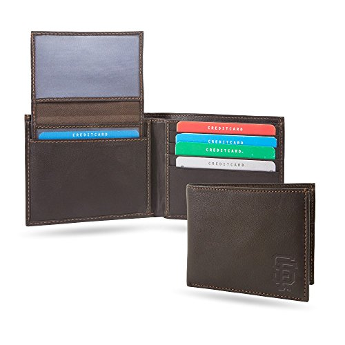 San Francisco Giants MLB RFID Blocking Shield Leather Billfold Wallet