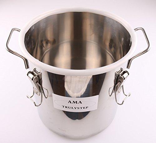 Spare Parts for Moonshine Still / Home Distiller: Stainless Fermenter Pot  Boiler & Thermometer & Airlock (fit 3 Pots Distiller, 5 Gallon 20 Litres)