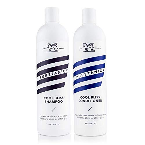Puretanica Mint Shampoo and Conditioner Set- (2 x 16 Fl Oz)