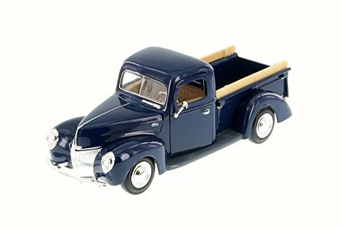 Motor Max 1940 Ford Pick Up Truck, Blue 73234WB - 1/24 Scale Diecast Model Toy Car