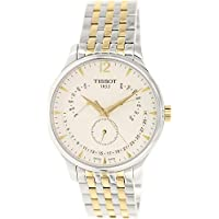 Tissot Tradition Perpetual White Dial Two-tone Mens Watch T0636372203700