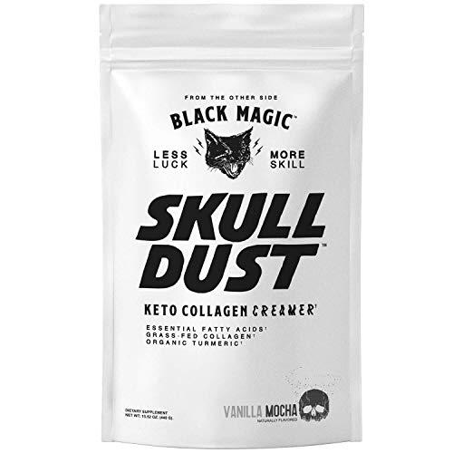 (Black Magic Supply- Skull Dust- Coffee Creamer, Ketogenic Coffee Creamer, Grass Fed Collagen, Organic Turmeric, 12 Grams Of Protein, Energy Boosting Formula, Amazing Focus, Vanilla Mocha Flavor)