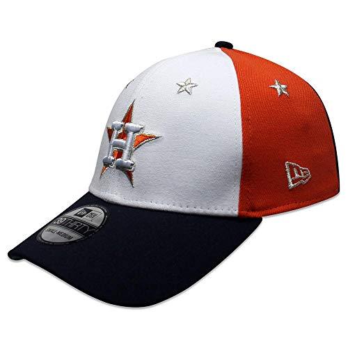(New Era Houston Astros 2018 MLB All-Star Game 39THIRTY Flex Hat - White, Navy (Large/XL))
