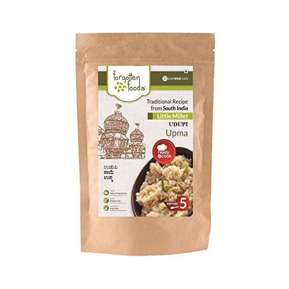 forgotten foods Instant Little Millet Udupi Upma Gluten-Free, Diabetic Friendly, Natural Ingredients (400 g, Serves 5)