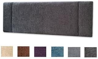 Chenille Fabric 3ft Single Portobello Headboard - Choice of 6 New Colours! (BLACK CHENILLE) by PERFECT HEADBOARDS