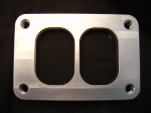 FID-Turbo Divided T6 Turbo Inlet Flange - Mild Steel
