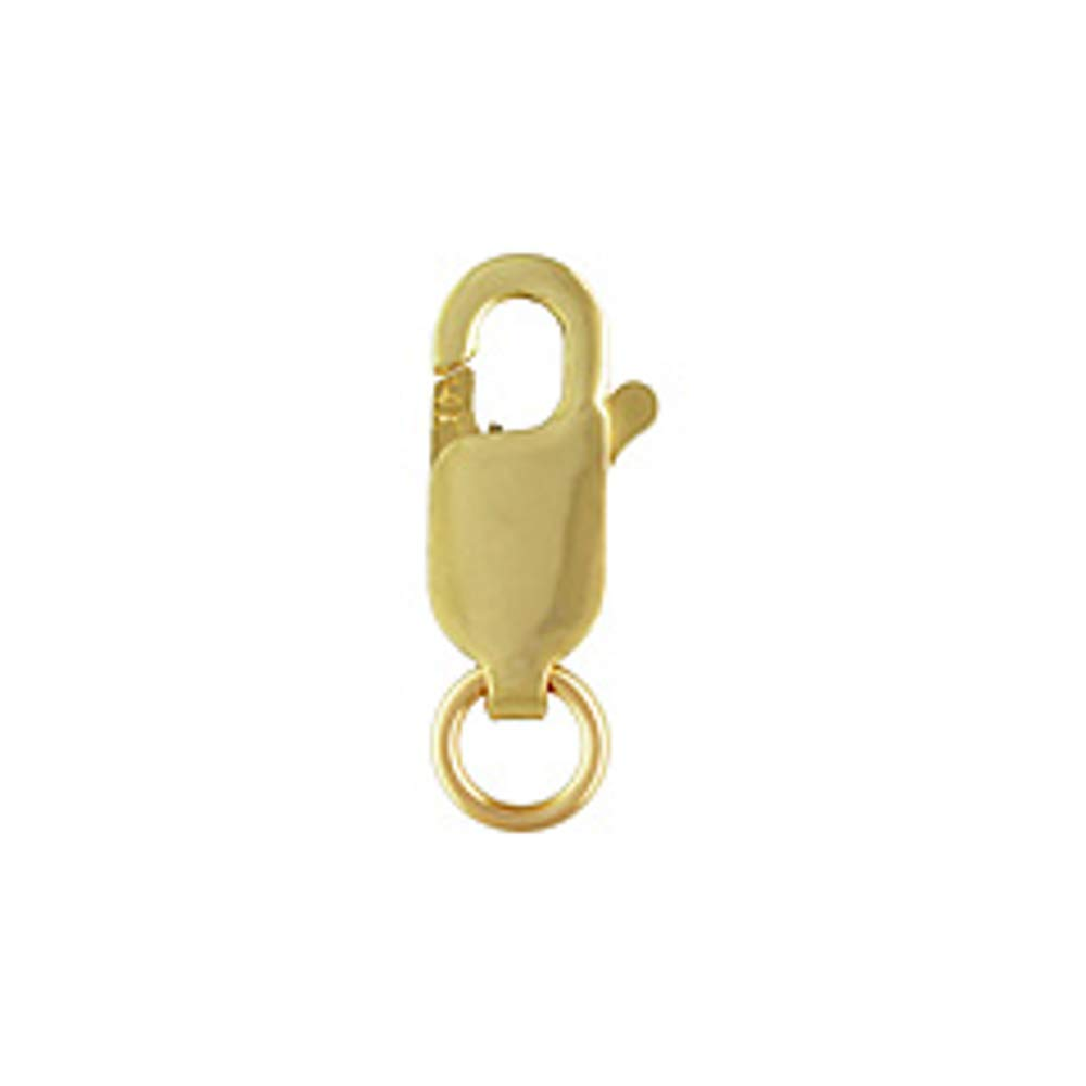 Genuine 14k Gold Lobster Claw Clasp, (Small) 4x10mm with Open Ring by JensFindings by JensFindings