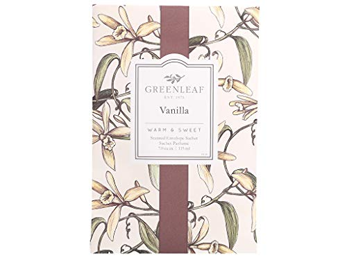 (GREENLEAF Large Scented Sachet - Vanilla - Up to 4 Months - Made in The USA)