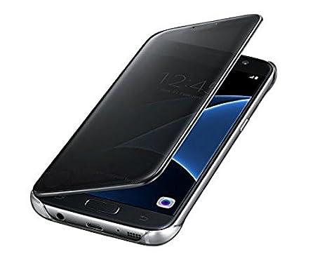 the latest 4a500 f3fb9 New Breed Flip Cover for J7 Max (Samsung J 7 Max, Mirror View Design, Semi  Transparent Flap, Screen Activity Visible, Sensor Case) Black
