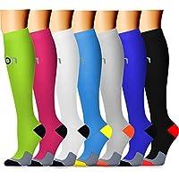 Copper Compression Socks (7 Pairs) for Men & Women - Best...