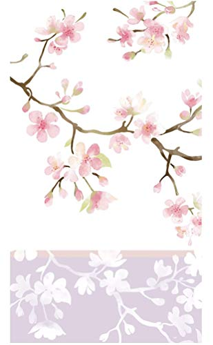 Cypress Home Cherry Blossoms Paper Guest Towel Buffet Napkins, 40 ct ()