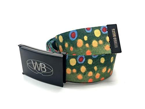 Web Wading Belt - Wingo Belts Unisex Bottle Opener Belt, Brook Trout, One Size Fits Most