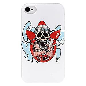 WQQ Hermoso Smoke Skull nuevo caso para el iPhone 4/4S