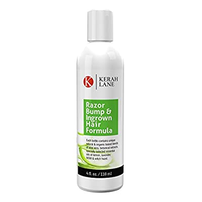 Kerah Lane Organic Razor Bump & Ingrown Hair Formula 4 Oz for Women & Men: Best Treatment Serum for Ingrown Hairs, Acne, Razor Bumps, Razor Burn: Use After Shaving, Waxing, Electrolysis & Hair Removal