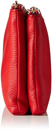 MICHAEL by Michael Kors Adele Rojo Crossbody Bolso Rojo (Bright Red)