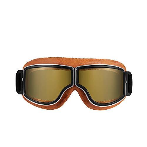 ALCADAN Ski Goggles - Over Glasses Ski/Snowboard Dust-Proof Goggles for Men, Women & Youth - 100% UV Protection (Light Brown Yellow)
