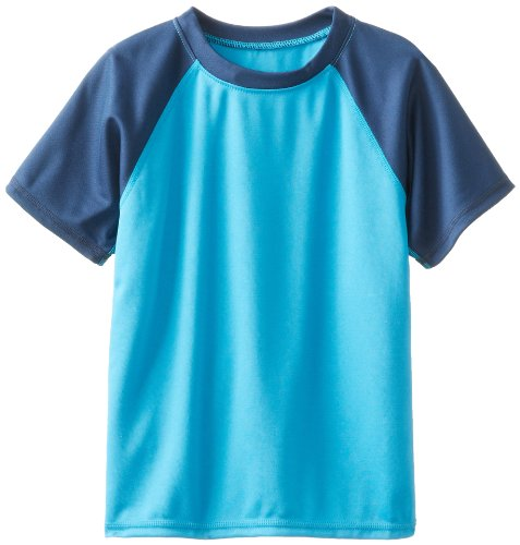 s' Toddler Contrast Swim Shirt, Aqua, 5T ()