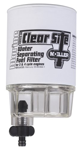 Moeller Clear Site Water Separating Fuel Filter System Replacement Filter and Water Collecting ()
