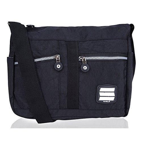 Multi Lunch Lightweight Pocket Handbag Crossbody Travel Everyday Suvelle 1951 Negro Bag Shoulder f4UYCqwcp5