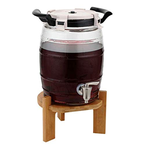 Dispenser, Liquor Decanter Pump Dispenser Machine with Built-in Ice Container for Liquor Wine Juice Beverage Home Party Bar Tools Accessories ()