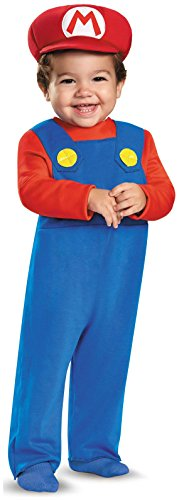 Disguise Baby Boys' Mario Infant Costume, Red, 12-18 (Super Mario Halloween Costume Baby)