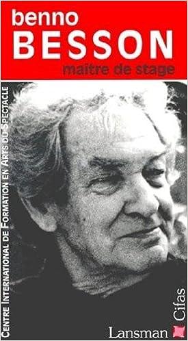 Lire un Benno Besson, maître de stage pdf
