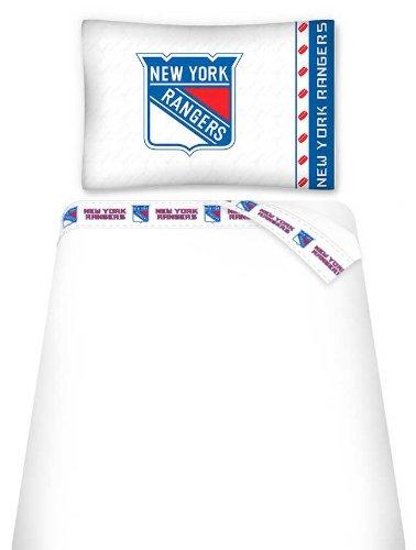 NHL New York Rangers Micro Fiber Sheet Set (Twin)