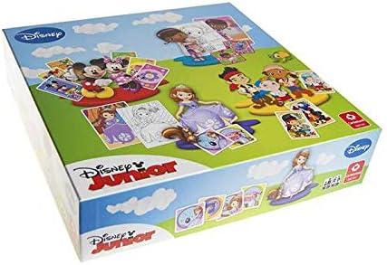 Jeu de société - Coffret de 5 Jeux Disney + 5 Cartes Géantes à Colorier: Amazon.es: Juguetes y juegos