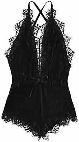 13042b177e6 Knitting & Crochet Women Lace Kimono Robe Lingerie Eyelash Babydoll Long  Sleeve Sheer Nightwear Lace Dress ...