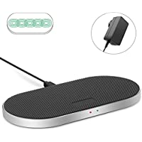 ZealSound 5 Coils Dual Fast Anti-Slip Silicon Wireless Charging Pad