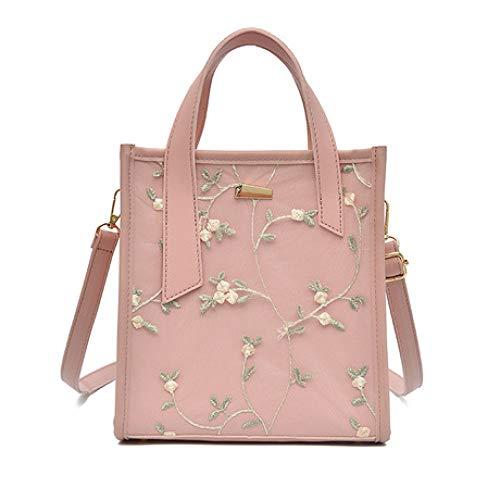 Flor Mujer Bandolera Bolsa Moda Bolso Hombro Señora Paquete Verano Versión Cuadrado Pink De Fresca Pequeña Coreana Zhwei Blanco Simple Bolsos Nueva color xSwO0IYaq