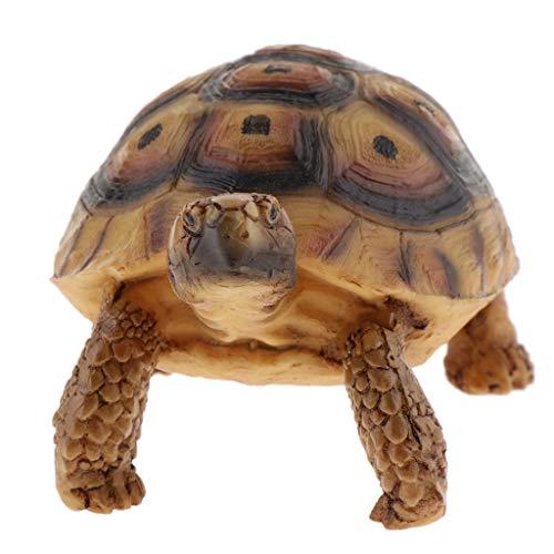 (Kesoto Acrylic Resin Simulation Fake Turtle Tortoise Aquarium Fish Tank Decoration Turtle Crawling Furnishing Articles - Type E)
