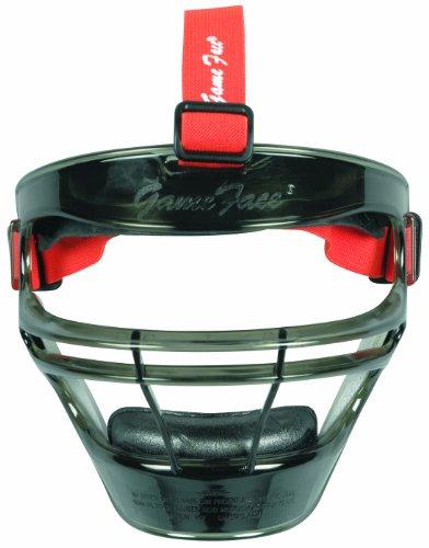- Markwort Game Face Sports Safety Mask (Smoke with Orange Ponytail Harness, Medium)