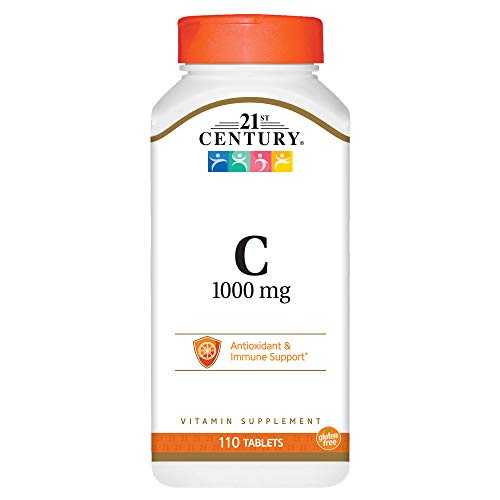 21st Century C 1000 mg Tablets, 110 Count - 21st Tablet Vitamins Century