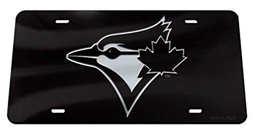 Rico Industries, Inc. Toronto Blue Jays Black Premium Laser Cut Tag Acrylic Inlaid License Plate Baseball