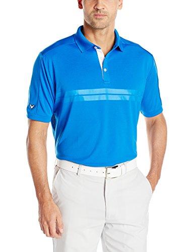 Callaway Men's Golf Short Sleeve Embossed Athletic Polo Shirt,...