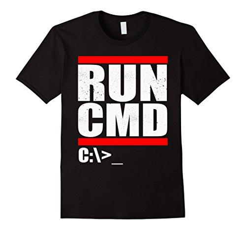 Mens Run Cmd T Shirt   Computer Nerd T Shirt 3Xl Black
