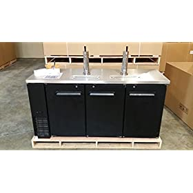 72″ Beer Keg Dispenser Kegerator Refrigerator w/ Stainless Top + 2 Taps! …