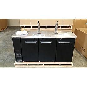 72″ Beer Keg Dispenser Kegerator Refrigerato...