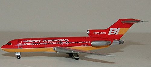 """Braniff International """"Flying Colors"""" 727-100 - Red (1:400); JET032"""