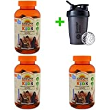Sundown Naturals Kids, Complete Multivitamin Gummies, Disney Star Wars, Mixed Berry, Raspberry & Pineapple Flavored, 180 Gummies(3 Packs)+Sundesa, Blender Bottle, Classic with Loop, 20 oz
