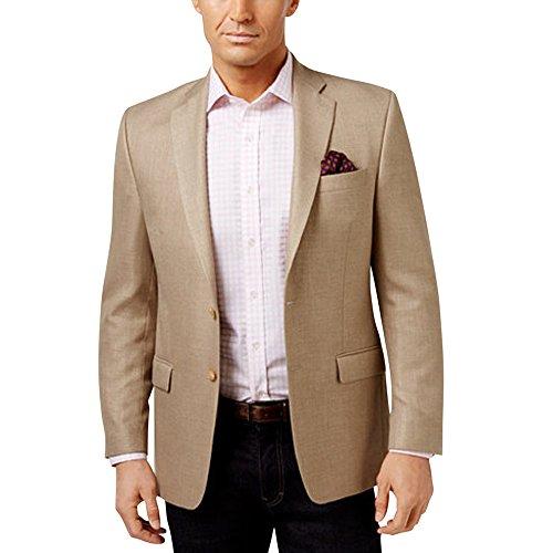 (RALPH LAUREN Lauren Men's Classic-Fit Neat UltraFlex Linen Blend Sport Coat Jacket, Tan)
